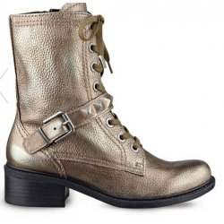 GUESS Drew Combat Leather Boots size: 5