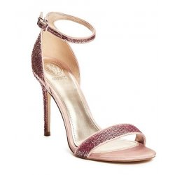 GUESS KAHLUA SEQUIN ANKLE-STRAP HEELS size: 9.5