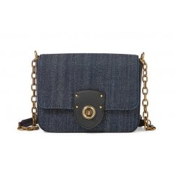 LAUREN Ralph Lauren Millbrook Denim Chain Crossbody Bag