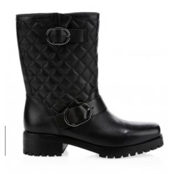MICHAEL KORS Women's Rosario Quilted Leather Mid-Calf Boots size: 10