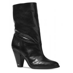 MICHAEL KORS Women's DIVIA Embossed Leather Bootie size: 5 M