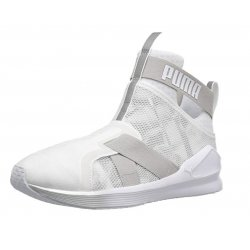 PUMA Women's Fierce Strap Swan  Cross-Trainer Shoe size: 7.5