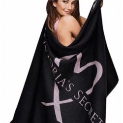 VICTORIA`S SECRET Limited Edition Black Pink Heart Blanket Throw