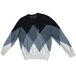 TOMMY HILFIGER Men's Sweater Pullover Ombre size: LARGE