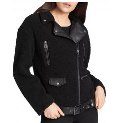 Levi's® Women's Sherpa Oversized Belted Motorcycle Jacket size: XL