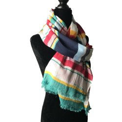 TOMMY HILFIGER Women`s Striped Print Scarf