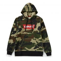 LEVI'S Men's Lathan Fleece Camouflage Logo Hoodie size: M