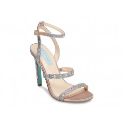Blue by BETSEY JOHNSON Women's AUBRY Rhinestones Satin Sandals size: 6