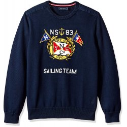 NAUTICA Men's 9GG Graphic Crew Sweater size: L