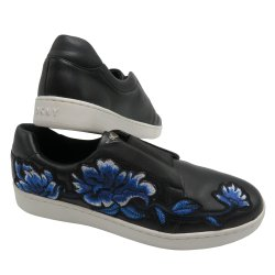 DKNY Women's BOBBI Embroidered Floral Slip On Sneakers size: 7.5