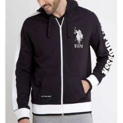 U.S. POLO ASSN. Men's Sweatshirt Hoodie with Rubber Logos size: L