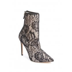 GUESS by MARCIANO koronkowe botki na obcasie 37.5