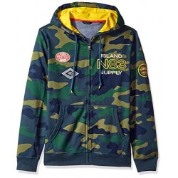 NAUTICA Men's N-83 Camo Fleece Hoodie, Sweatshirt size: L