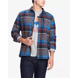 TOMMY HILFIGER Men's Lucas Plaid Shirt Jacket size: M