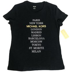 MICHAEL KORS Womens's City Print Tee, T-shirt size: L