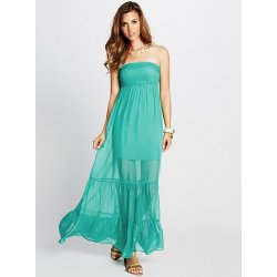 GUESS Women's Smocked Silk Tube Maxi Dress size: S
