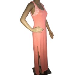 GUESS Active Solid Tank in Afterglow Orange French Terry Maxi Dress size: SMALL