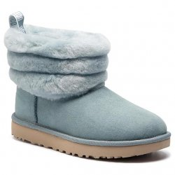 UGG Women's Classic Mini FLUFF Quilted Boot size: 6