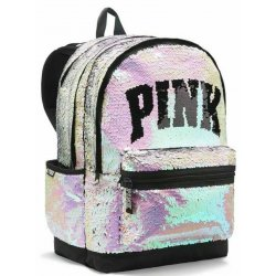 VICTORIA`S SECRET PINK Sequin Iridescent Campus Backpack