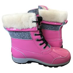 UGG Youth Girl's, Big Kid's BUTTE II Patent Sparkle Boots size: 4