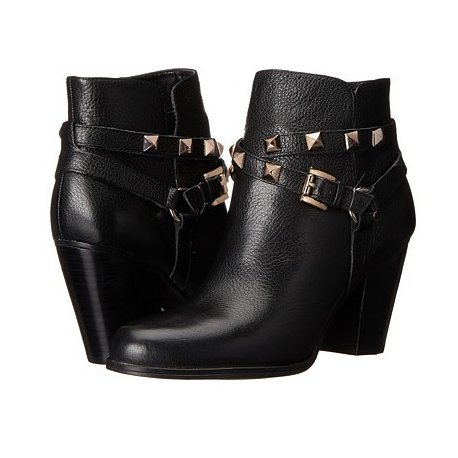 GUESS Fran Studded Leather Ankle Boots 8
