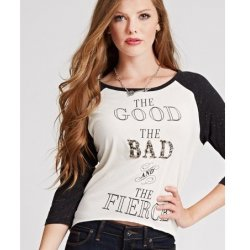 GUESS blouse raglan inscriptions