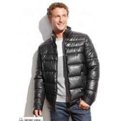 TOMMY HILFIGER leather quilted jacket L from USA