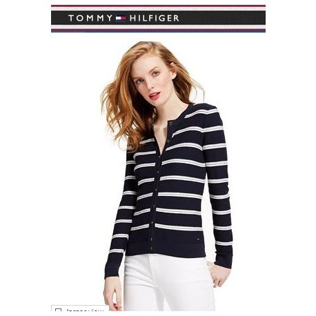TOMMY HILFIGER S / M striped cardigan from USA