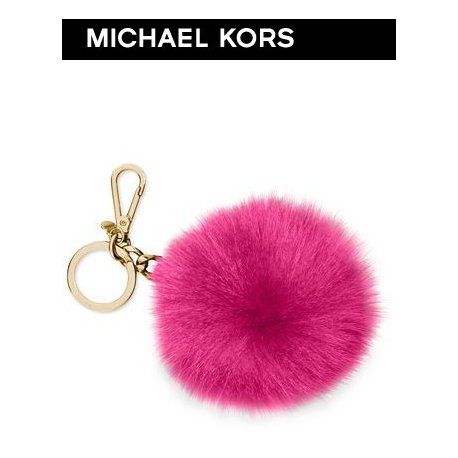 MICHAEL KORS extra large fox pendant with logo from USA