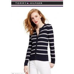 TOMMY HILFIGER cardigan textured stripes M