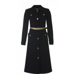 MICHAEL KORS navy coat Military Belted Coat
