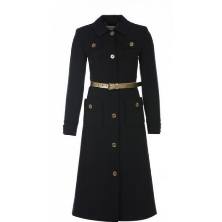 MICHAEL KORS Women's Military Belted Coat size: 2 MSRP: $350