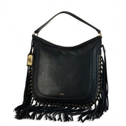 LAUREN by RALPH LAUREN WHEELER Fringe Hobo Bag