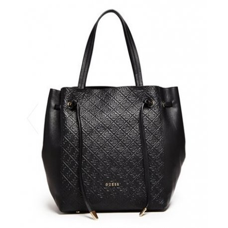 GUESS ALESSANDRA LUXE LEATHER CARRYALL, HANDBAG
