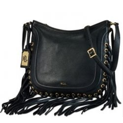 LAUREN by RALPH LAUREN WHEELER Fringe Crossbody with Grommets
