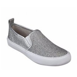 GUESS srebrne Cangelo Slip-On Sneakers z USA