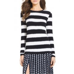 MICHAEL KORS Women's Long Slevves Striped Crewneck Tee size: M