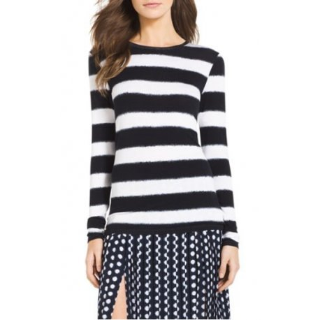 MICHAEL KORS blouse / T-shirt stripe logo MK