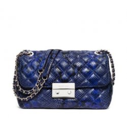 MICHAEL KORS Sloan Large Chain Phyton Shoulder Bag