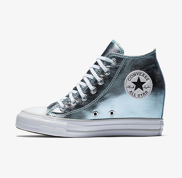 CONVERSE Chuck Taylor All Star Luxury Mid Wedge Sneakers size 5  3c0367d89