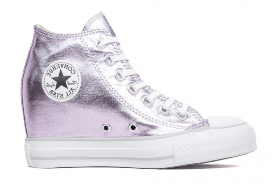 c6f86791a4b CONVERSE Chuck Taylor All Star Luxury Mid Wedge Sneakers size 5.5 ...