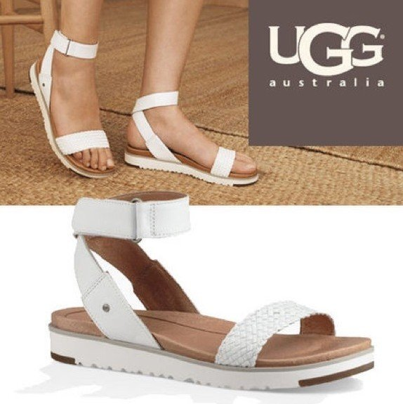 10b10916ce3 Details about UGG Women's LADDIE Ankle Strap Sandals 7