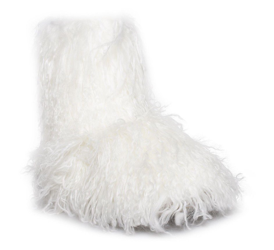 4c440b314f9 Details about UGG Woman's FLUFF MOMMA MONGOLIAN WHITE SHEEPSKIN Boots size:  6